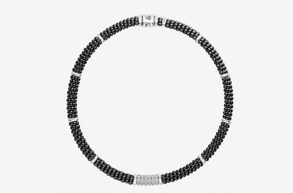 Black Caviar Diamond Necklace