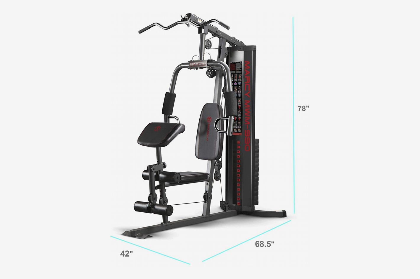 87fc964c51584 Marcy 150-lb Multifunctional Home Gym Station for Total Body Training