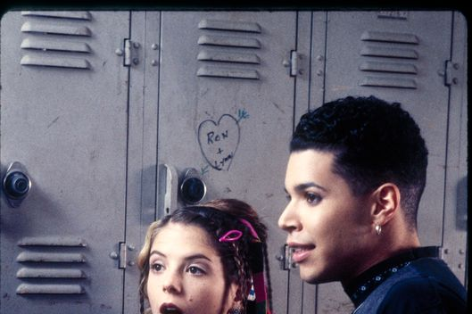 "MY SO-CALLED LIFE - ""Betrayal"" - Season One - 1/12/95 Angela realizes she is over Jordan and is into someone else. A.J. Langer (Rayanne) and Wilson Cruz (Rickie) star. (AMERICAN BROADCASTING COMPANIES, INC.)"