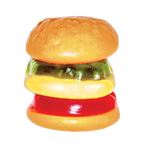"<b>Gummy Burger:</b>    <b><a href=""http://cocolevu.com/home.html"">Coco Le Vu</a></b>    <i>202 E. 110th St., nr. Third Ave.; 212-860-3380</i>    E.Frutti's bite-size, individually wrapped gummy burgers ($.25) are a main attraction for the after-school kids who flock to sisters Christine and Nalanie Milano's 750-variety sweets shop. (Christine says she barely keeps them in stock.) Each juicy layer, from bun to pickle, can be picked apart to eat one by one."