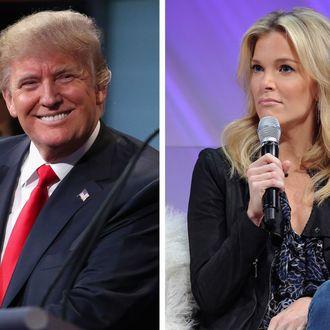 Donald Trump and Megyn Kelly.