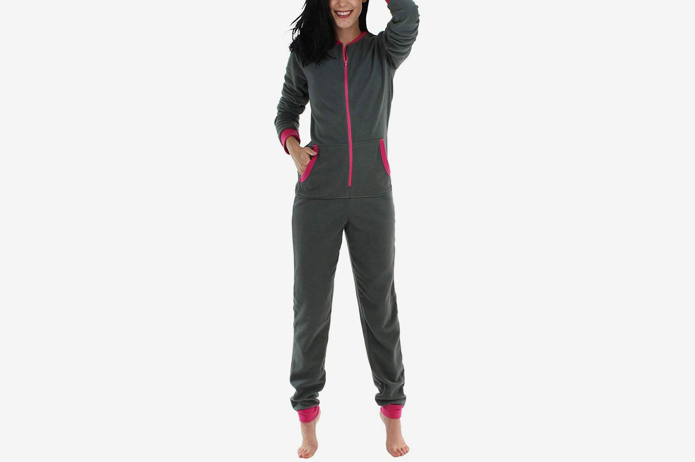 58ff77b15536 Sleepyheads Women s Sleepwear Fleece Non Footed Color Onesie Pajamas