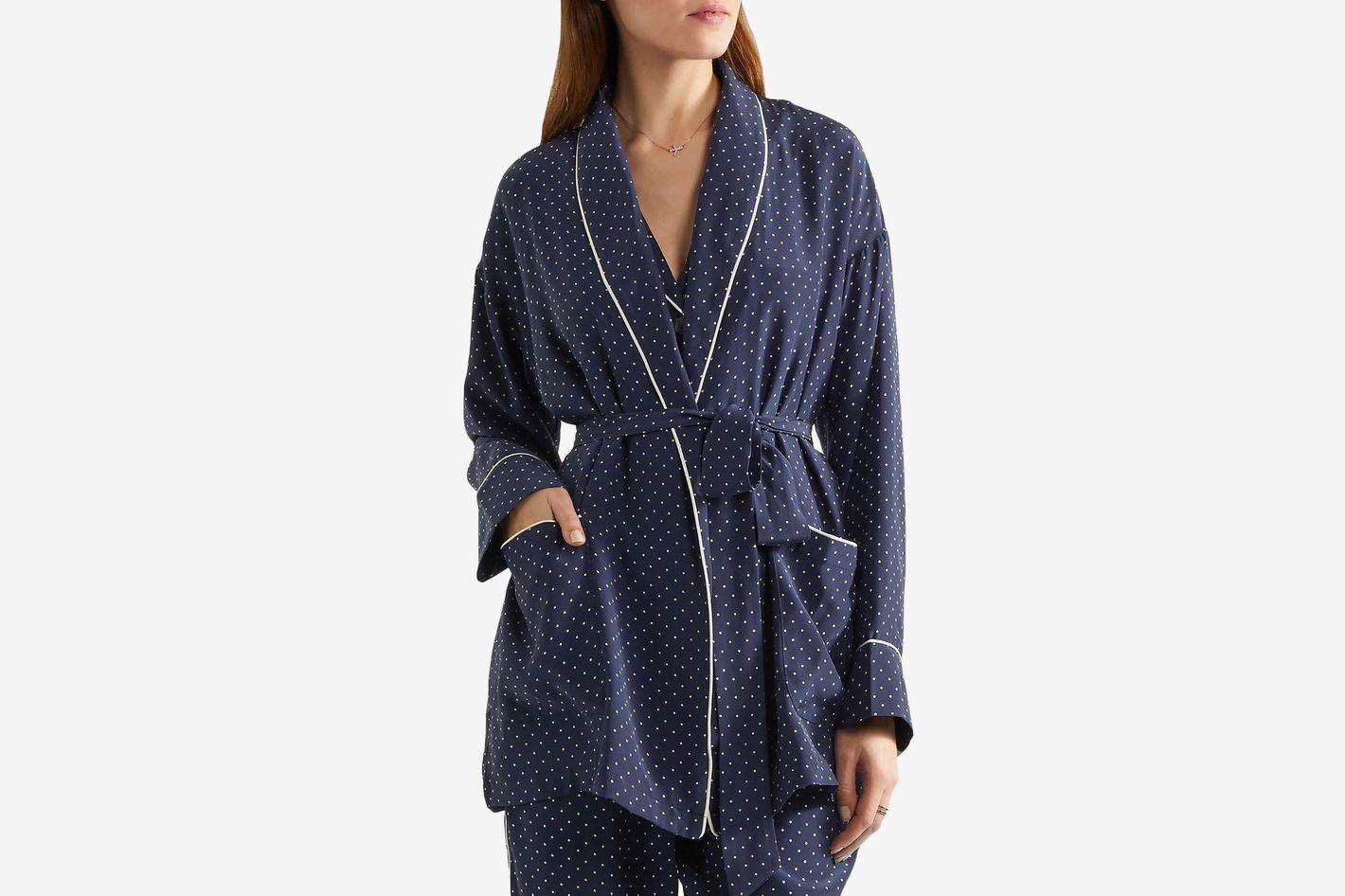 Sleepy Jones Printed Silk Robe