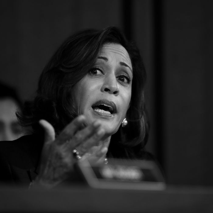 Kamala Harris at Brett Kavanaugh's confirmation hearing.