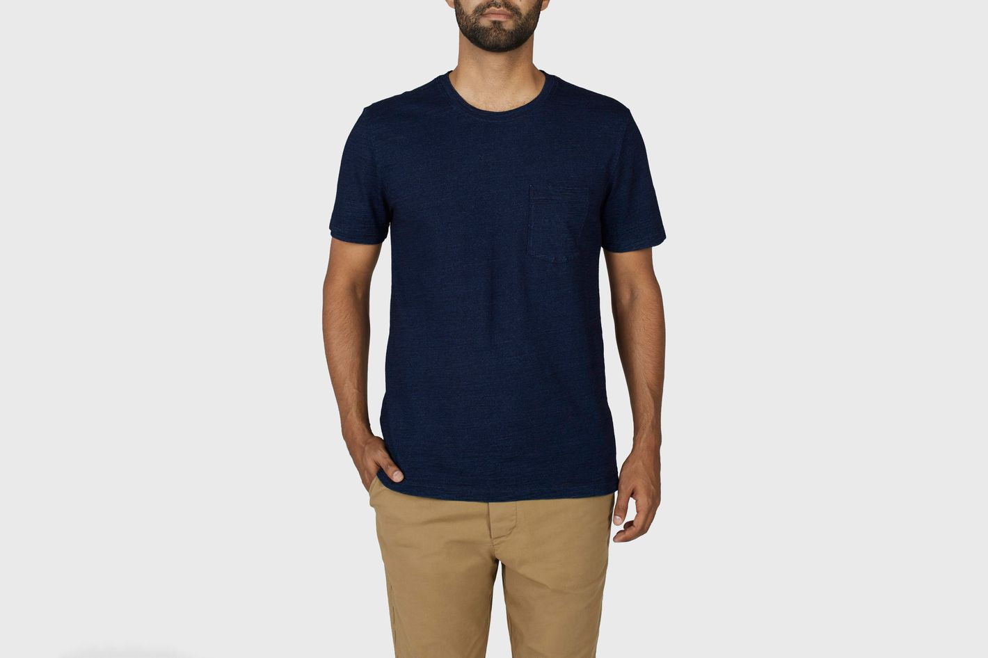 Everlane  Indigo Texture Pocket T-shirt