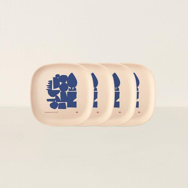 Gusto Medium Plate - Blue Series by Ekobo