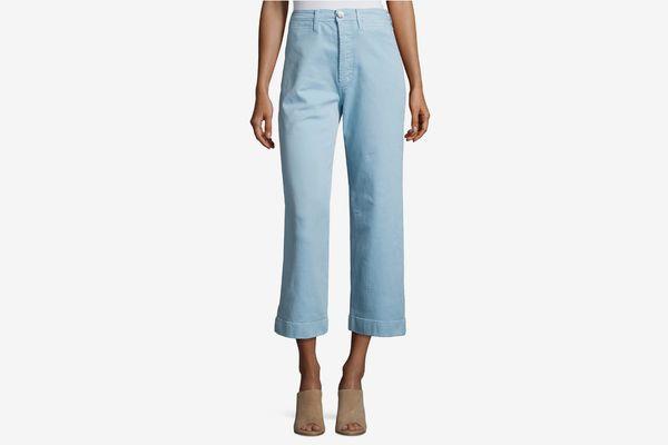 M.i.h Caron High-Rise Cropped Wide Leg Pants, Blue