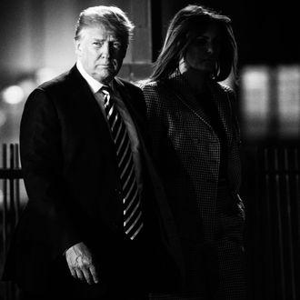 Donald Trump and Melania Trump.