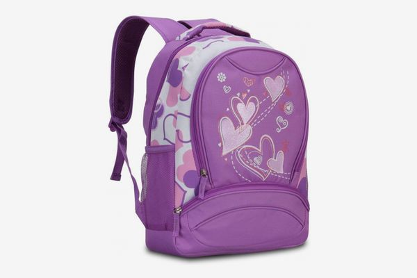Hynes Eagle Sweetheart Pattern Backpack Purple