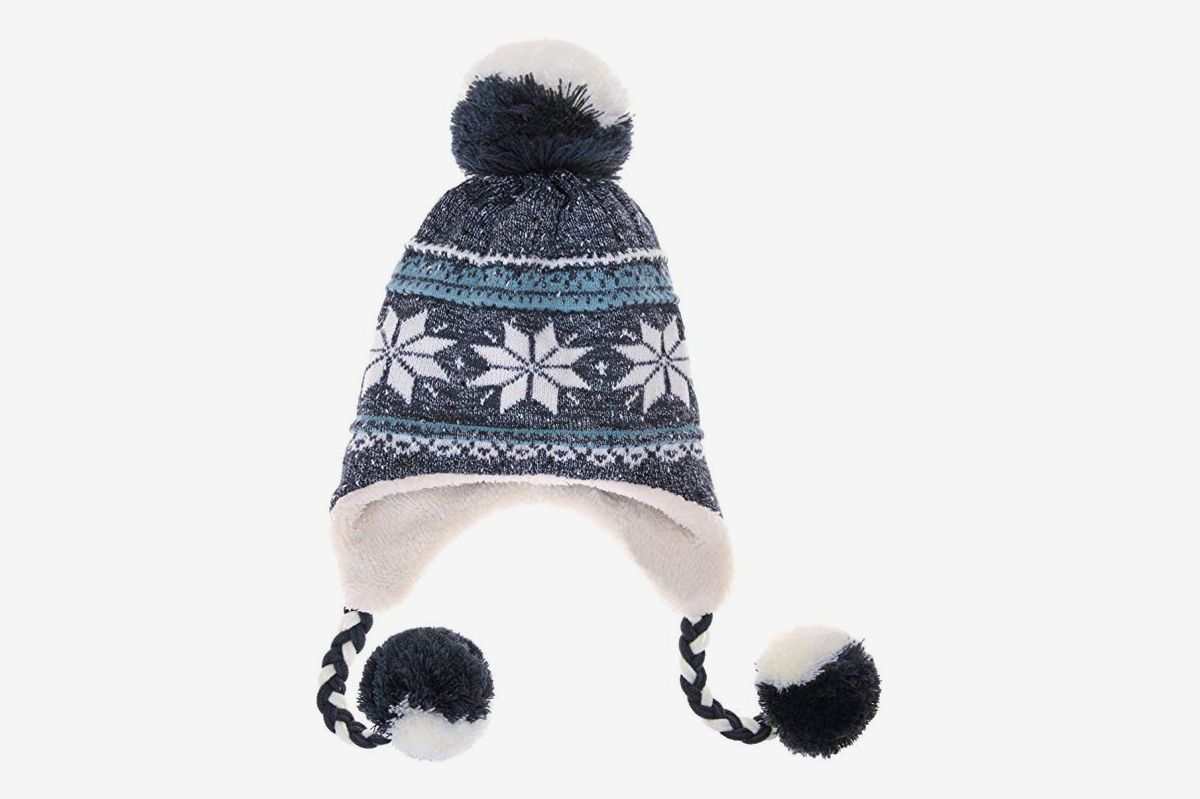 Women Man Winter Knit Warm Cotton Beanies Hat for Dad Mask Double Thicker Layer Knitted Baggy Bonnet Caps
