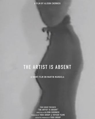 The poster for <em>The Artist Is Absent.</em>