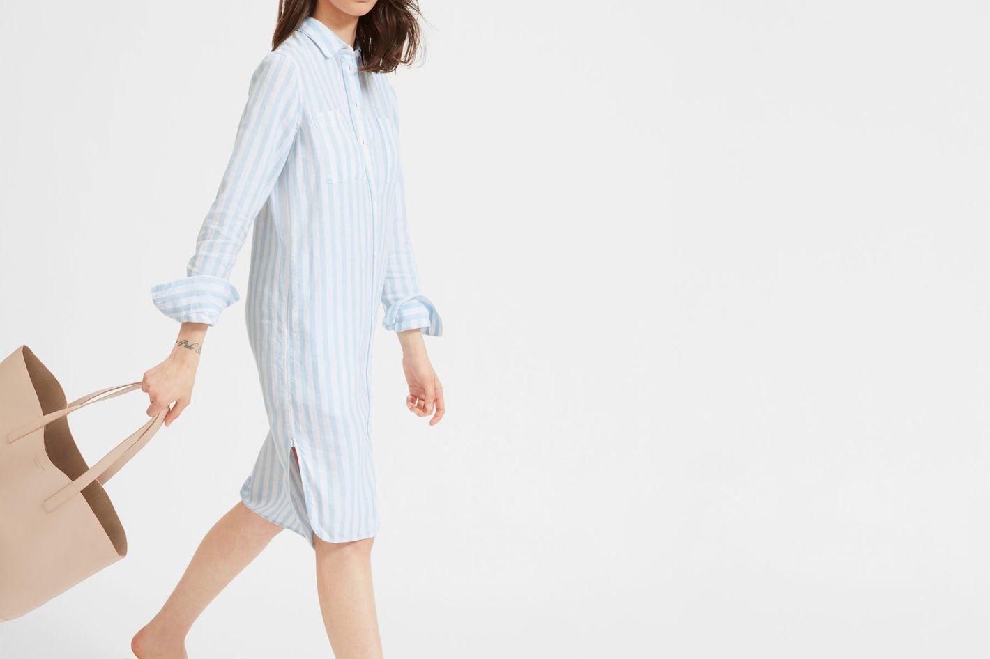 Everlane Linen Shirt Dres