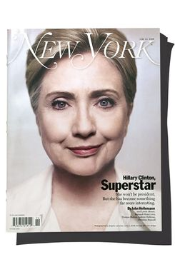 For the cover of the current issue, photographer Brigitte Lacombe re-created her 2008 portrait of Clinton.