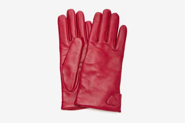Yestadt Millinery Amore Appliquéd Leather Gloves