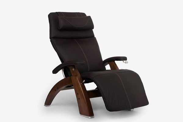 Human Touch Perfect Chair PC-420 Top Grain Leather Hand-Crafted Zero-Gravity Walnut Manual Recliner