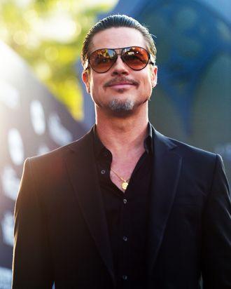 Actor Brad Pitt attends the World Premiere of Disney's