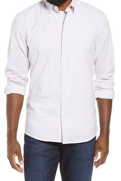 Nordstrom regular fit stretch cotton button-down shirt