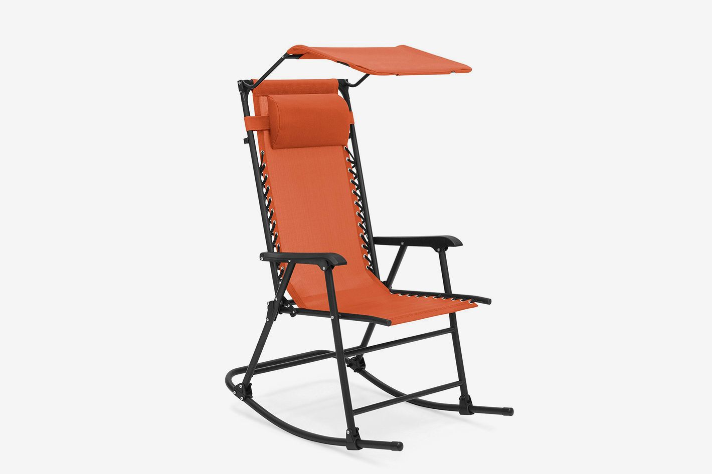 Best Choice Products Foldable Zero Gravity Rocking Patio Recliner Chair With Sunshade Canopy At