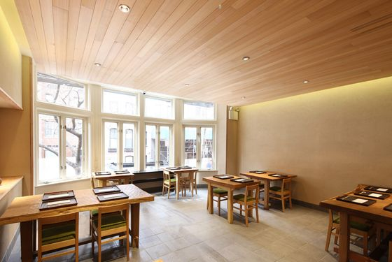 Let the sunshine in: the dining room at the new Kajitsu.