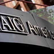 (FILES): This September 17, 2008 file photo shows the logo of American International Group Inc. outside their office in the lower Manhattan area of New York. The US Federal Bureau of Investigation is probing allegations of fraud by 26 Wall Street firms including several investment giants whose collapse sent world markets into turmoil, US media said September 23, 2008. The FBI has set its sights on investment titan Lehman Brothers, mortgage giants Fannie Mae and Freddie Mac and insurer AIG, in a wide-reaching inquiry that comes as lawmakers rush to agree a 700-billion-dollar government bailout of the troubled US financial sector.    AFP PHOTO / Files / Stan HONDA (Photo credit should read STAN HONDA/AFP/Getty Images)
