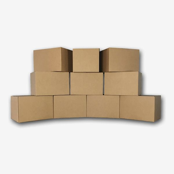 10 Medium Moving Boxes 18x14x12 Packing Cardboard Boxes