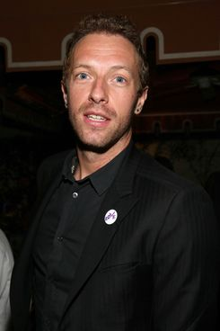 Recording artist Chris Martin attends the Warner Music Group annual GRAMMY celebration on January 26, 2014 in Los Angeles, California.