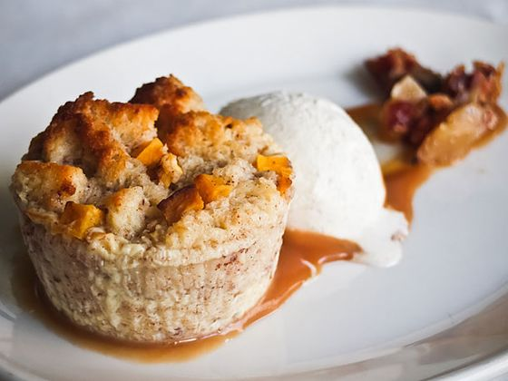 "<b>Squash Bread Pudding</b>    <a href=""http://www.parkgrillchicago.com/"">Park Grill</a>    <i>11 N. Michigan Ave.;312-521-7275</i>  One is tempted to say any dessert would be good with the Park Grill's view of Millennium Park and Michigan Avenue, but you could eat Claire Hewson's bread pudding in a dark igloo and still feel warmed by its robust winter flavors — savory squash with butter-rum caramel, cinnamon ice cream, and bits of bacon brittle."