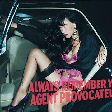 Paz de la Huerta for Agent Provocateur.