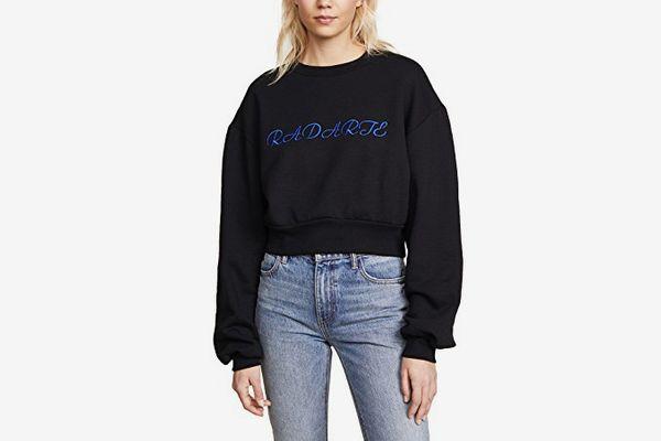 Rodarte Cropped Radarte LA Paris Sweatshirt