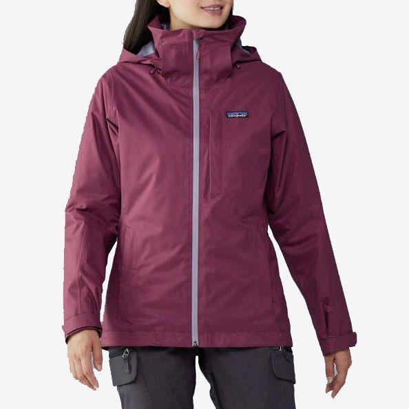 plum patagonia snowbelle 3 in 1 jacket - strategist rei winter sale
