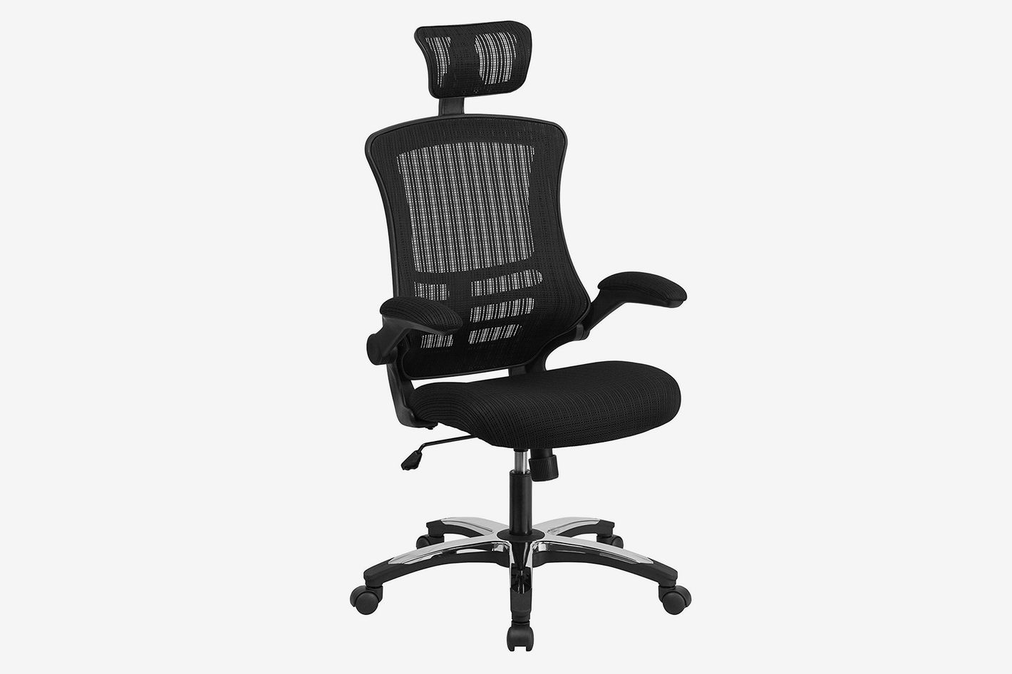 Flash Furniture Black Mesh Office Chair With Headrest