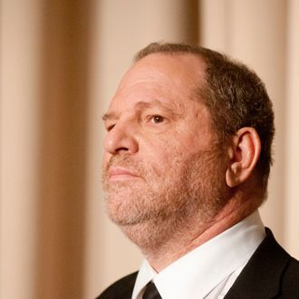 WASHINGTON, DC - MARCH 15: Harvey Weinstein speaks during a panel discussion after a screeing of the documentary