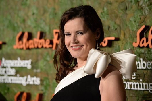 Actress Geena Davis arrives at the Wallis Annenberg Center for the Performing Arts Inaugural Gala presented by Salvatore Ferragamo at the Wallis Annenberg Center for the Performing Arts on October 17, 2013 in Beverly Hills, California.