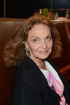 Belgian-American fashion designer Diane von Furstenberg poses for photographs before her Spring 2013 Collection show in Sydney, Australia, 24 October 2012.