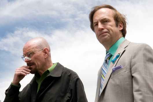 Walter White (Bryan Cranston) and Gale Boetticher (David Costabile) - Breaking Bad - Season 4, Episode 13