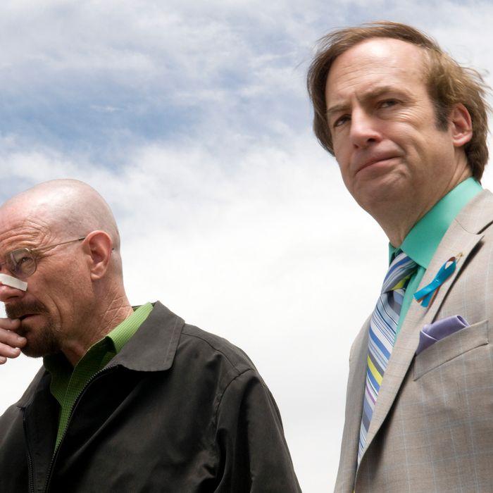 Walter White (Bryan Cranston) and Gale Boetticher (David Costabile) - Breaking Bad - Season 4, Episode 13