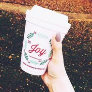 Dunkin' Donuts Made Extra-Christmassy Holiday Cups This Year