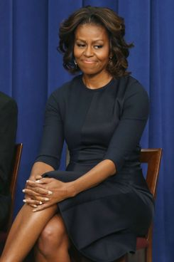 First lady Michelle Obama participates in an event on college opportunities at the Eisenhower Executive Office building, on January 16, 2014 in Washington, DC.