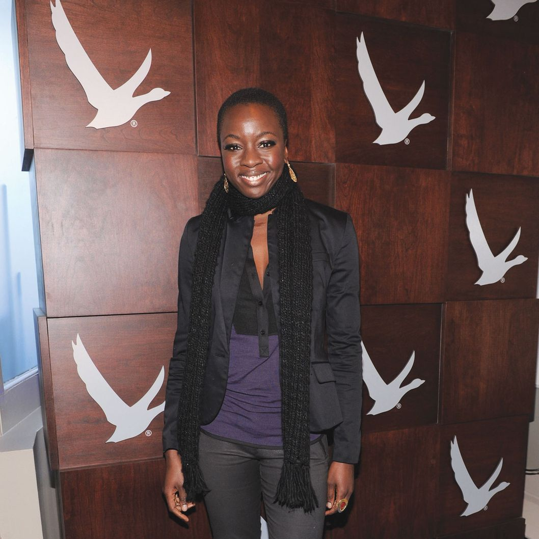 PARK CITY, UT - JANUARY 19:  Danai Gurira at the Grey Goose Blue Door on January 19, 2013 in Park City, Utah.  (Photo by Jamie McCarthy/Getty Images for Grey Goose)