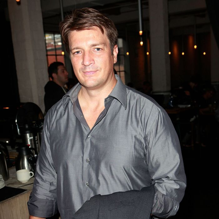 Actor Nathan Fillion attends The Hollywood Reporter TIFF Video Lounge Presented By Canon during the 2012 Toronto International Film Festival at Brassaii on September 8, 2012 in Toronto, Canada.