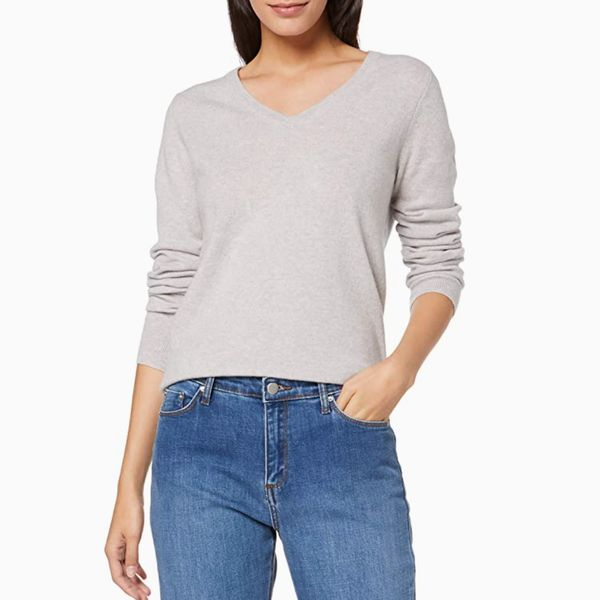 Meraki Cashmere V-Neck Sweater