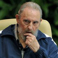 Former Cuban president Fidel Castro attends the final session of the 6th Cuban Communist Party Congress, on April 19, 2011 at the Convention Palace in Havana.
