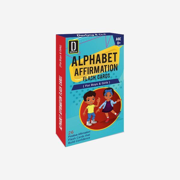 Darlyng & Co.'s Modern Alphabet Affirmation Flash Cards