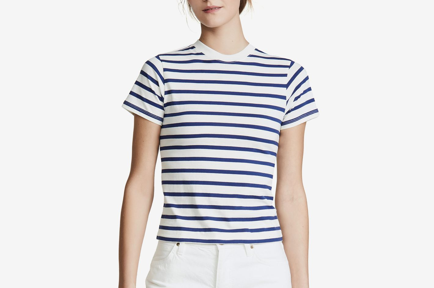 Hanes x Karla Striped Crew Tee Off White/Navy