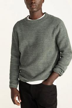J.Crew Rugged Cotton Waffle-Knit Sweater