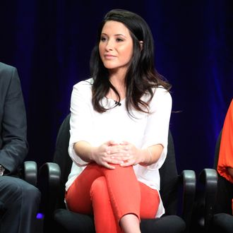 Dancer Bristol Palin speaks onstage at the