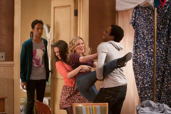"COMMUNITY -- ""Origins of Vampire Mythology"" Episode 315 -- Pictured: (l-r) Danny Pudi as Abed, Alison Brie as Annie, Gillian Jacobs as Britta, Donald Glover as Troy -- Photo by: Michael Desmond/NBC"