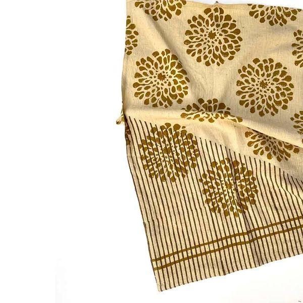 Ichcha Golden Flower Tea Towel
