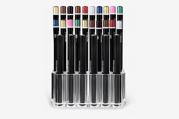 hblife Clear Acrylic Makeup Eyeliner Lip Liner Holder Organizer, 26 Slots
