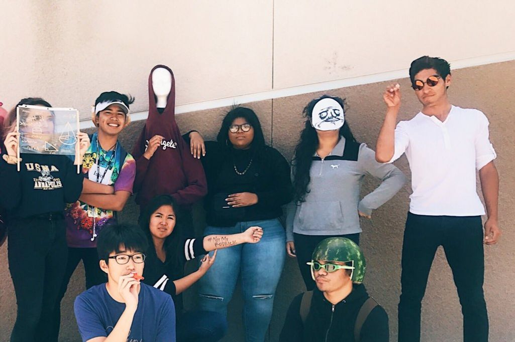 MemeDay.w710.h473.2x high school seniors celebrate meme day with costumes